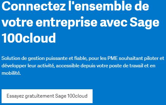 test gratuit de Sage 100 cloud gestion commerciale et comptabilité